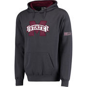 Men's Stadium Athletic Charcoal Mississippi State Bulldogs Big Logo Pullover Hoodie