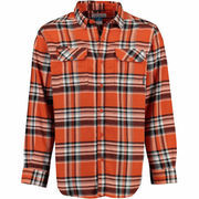 Men's Columbia Orange Oregon State Beavers Flare Gun Long Sleeve Flannel Shirt