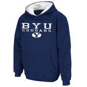 Youth Stadium Athletic Navy BYU Cougars Stack II Hoodie