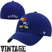 '47 Brand Kansas Jayhawks New Vault Franchise Fitted Hat - Royal Blue