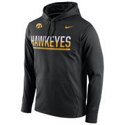 Men's Nike Black Iowa Hawkeyes Circuit Pullover Performance Hoodie