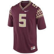 No. 5 Florida State Seminoles Nike Replica Football Jersey - Garnet