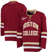 Men's Under Armour Maroon Boston College Eagles Replica Hockey Performance Jersey