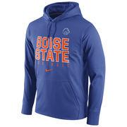 Men's Nike Royal Boise State Broncos Circuit Football Pullover Performance Hoodie