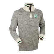 Men's Bruzer Green Colorado State Rams Quarter-Zip Sweater