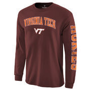 Men's Fanatics Branded Maroon Virginia Tech Hokies Distressed Arch Over Logo Long Sleeve Hit T-Shirt