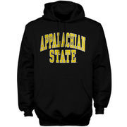 Mens Appalachian State Mountaineers Black Bold Arch Hoodie