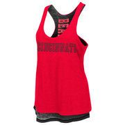Women's Colosseum Red Cincinnati Bearcats Triple Crown Reversible Tank Top
