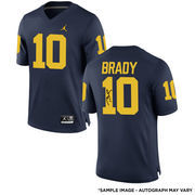 Tom Brady Michigan Wolverines Autographed Brand Jordan Replica Jersey - TRISTAR