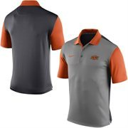 Men's Nike Gray Oklahoma State Cowboys 2015 Coaches Preseason Sideline Polo