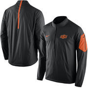 Men's Nike Black Oklahoma State Cowboys 2015 Football Coaches Sideline Half-Zip Wind Jacket