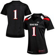 Women's Under Armour #1 Black Texas Tech Red Raiders Replica Football Jersey