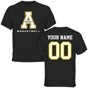 Appalachian State Mountaineers Personalized Basketball T-Shirt - Black