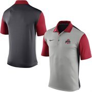 Men's Nike Gray Ohio State Buckeyes 2015 Coaches Preseason Sideline Polo
