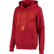 Women's Cardinal USC Trojans Olivia Arch Logo Pullover Hoodie