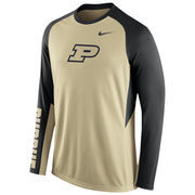 Nike Gold Purdue Boilermakers 2015-2016 Elite Basketball Pre-Game Shootaround Long Sleeve Dri-FIT Top
