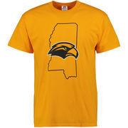 Men's Russell Gold Southern Miss Golden Eagles Wear Gold T-Shirt