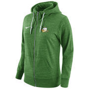 Women's Nike Green Oregon Ducks Tailgate Gym Vintage Full-Zip Hoodie