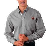 Harvard Crimson Velocity Oxford Shirt - Gray