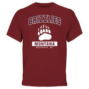Men's Maroon Montana Grizzlies Campus Icon Short Sleeve T-Shirt