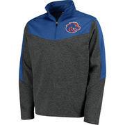 Men's Colosseum Charcoal/Royal Boise State Broncos Top Gun Quarter-Zip Pullover Jacket