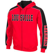 Men's Colosseum Red Louisville Cardinals Big & Tall Thriller II Full-Zip Hoodie