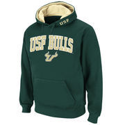Men's Stadium Athletic Green South Florida Bulls Arch & Logo Pullover Hoodie