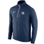 Men's Nike Navy Georgetown Hoyas Football Coaches Sideline Half-Zip Tri-Blend Performance Knit Top