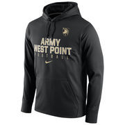 Men's Nike Black Army Black Knights Circuit Football Pullover Performance Hoodie