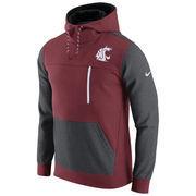Men's Nike Crimson/Charcoal Washington State Cougars AV15 Fleece Pullover Hoodie