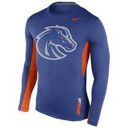Men's Nike Royal Boise State Broncos 2015 Sideline Vapor Dri-FIT Long Sleeve Top
