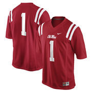 No. 1 Ole Miss Rebels Nike Replica Football Jersey - Cardinal