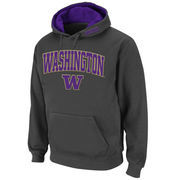 Men's Stadium Athletic Charcoal Washington Huskies Arch & Logo Pullover Hoodie