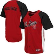 Men's NC State Wolfpack Red Dugout Baseball Jersey