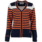 Women's Navy Virginia Cavaliers Striped Sweater