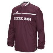 Men's adidas Maroon Texas A&M Aggies 2015 Coaches Sideline Quarter-Zip Woven Jacket