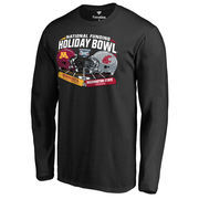 Men's Fanatics Branded Black Minnesota Golden Gophers vs. Washington State Cougars 2016 Holiday Bowl Motion Long Sleeve T-Shirt