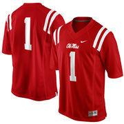 No. 1 Ole Miss Rebels Nike Replica Football Jersey - Cardinal