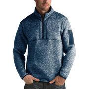 Men's Antigua Heathered Navy Villanova Wildcats Fortune 1/2-Zip Pullover Sweater