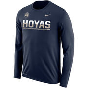 Men's Nike Navy Georgetown Hoyas 2016 Sideline Legend Logo Dri-FIT Long Sleeve T-Shirt