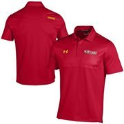Maryland Terrapins Under Armour Ultimate Coaches Sideline Polo - Red