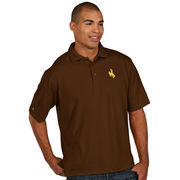 Antigua Brown Wyoming Cowboys Pique Xtra Lite Polo