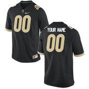Nike Mens Purdue Boilermakers Custom Replica Football Jersey - Black