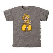 Men's Gray Wyoming Cowboys Auxiliary Logo Tri-Blend T-Shirt