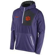 Men's Nike Purple Clemson Tigers 2016 Sideline Vapor Fly Rush Half-Zip Pullover Jacket