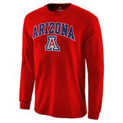 Men's Red Arizona Wildcats Campus Long Sleeve T-Shirt