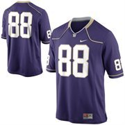 Nike Washington Huskies #88 Game Football Jersey - Purple
