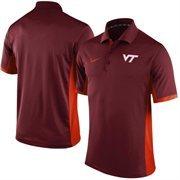 Men's Nike Maroon Virginia Tech Hokies Team Issue Performance Polo