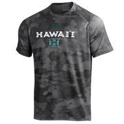 Men's Under Armour Black Hawaii Warriors Tech Camo Performance T-Shirt