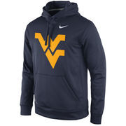 Men's Nike Navy West Virginia Mountaineers Practice Performance Hoodie